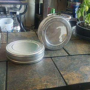 Kodiak Silver Tone Round Film Tins #2350